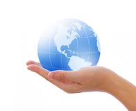 World in hand. Concept photography -- world in hand Royalty Free Stock Photography