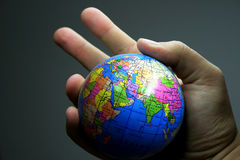 World in the hand Stock Images