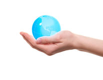 World in the hand Royalty Free Stock Photos