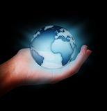World in the hand Royalty Free Stock Photo