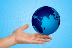 World in hand. The world in your hand Royalty Free Stock Images