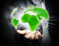 World in a hand Royalty Free Stock Image