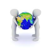 World in hand Stock Photo