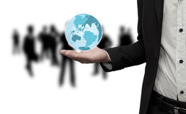 The world is in the hands. The world is in the hands of businessmen Royalty Free Stock Photo