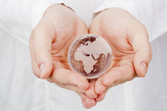 World in Hands Royalty Free Stock Photos
