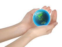 World in hands Royalty Free Stock Images
