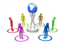 World in hands Royalty Free Stock Photography
