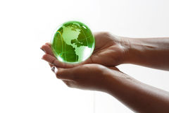 World in hands Stock Photography