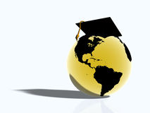 World with hat Royalty Free Stock Image
