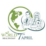World Health Day 7 April. royalty free illustration
