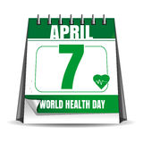 World Health Day calendar. 7 April Stock Photo