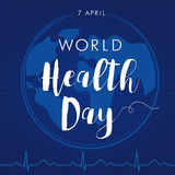 World Health Day card Stock Photography