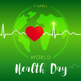 World Health Day card green Stock Photos