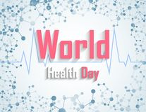 World health day concept with DNA. Illustration of World health day concept with DNA Stock Illustration