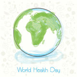 World Health Day concept with globe. Royalty Free Stock Photos