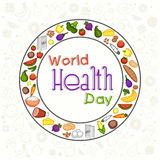 World Health Day concept with healthy food. Stock Images
