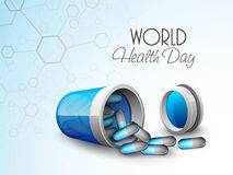 World Health Day concept with medicines. Royalty Free Stock Images
