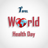 World health day concept with text heart. Illustration of World health day concept with text heart Royalty Free Illustration