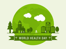 World Health Day concept with urban city. Stock Images