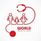 World Health Day. Creative World Health Day Greeting stock Stock Photography