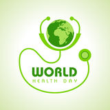 World Health Day. Creative World Health Day Greeting stock Stock Images