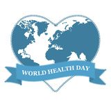 World health day. Globe in heart shape on white background. royalty free stock photography