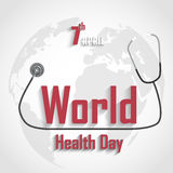 World Health Day on grey background Stock Photos