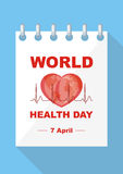 World Health Day poster Stock Images
