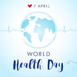 World Health Day pulce globe Royalty Free Stock Photos