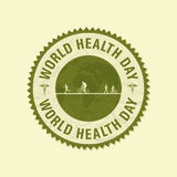 World Health Day rubber stamp. Royalty Free Stock Image