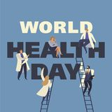 World Health Day 7th april with the image of doctors. Vector illustrations. World Health Day 7th april with image of doctors. Vector illustrations Stock Illustration