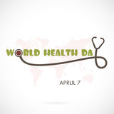 World Health Day Typographical Design Elements. World Health Day Stock Photography