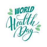 World health day vector illustration. Stock Photography