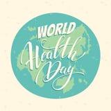 World health day vector illustration. Stock Image