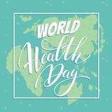 World health day vector illustration. Royalty Free Stock Image
