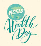 World health day vector illustration. Royalty Free Stock Images