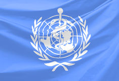 World Health Organization Flag Royalty Free Stock Photos