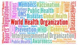 World health organization word cloud. Illustration Royalty Free Stock Image