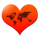 World heart Royalty Free Stock Image