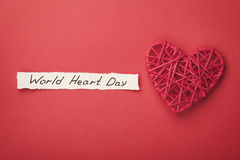 World Heart Day concept from above Stock Photo