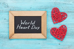 World Heart Day concept overhead view Royalty Free Stock Photo