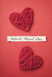 World Heart Day concept top view Stock Photography