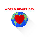 World Heart Day  on white vector. Stock Photo