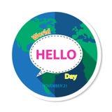 World Hello Day Background royalty free illustration