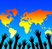 World help Royalty Free Stock Image