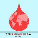 World hemophilia day cartoon design illustration 11. World hemophilia day at 17 april Royalty Free Stock Photography