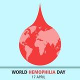 World hemophilia day cartoon design illustration 11 Royalty Free Stock Photography