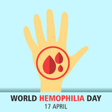 World hemophilia day cartoon design illustration 08. World hemophilia day at 17 april Stock Photo