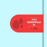 World hemophilia day cartoon design illustration 04. World hemophilia day at 17 april Royalty Free Stock Photo