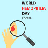 World hemophilia day cartoon design illustration 10. World hemophilia day at 17 april Stock Photography